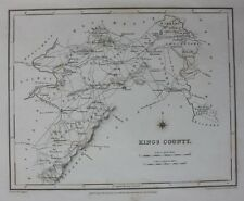 Contea di Originale Antico Mappa Irlanda, King's County, Offaly, Lewis morgengabio, 1837