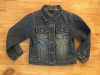 Lands' End Girls 6X  - Classic Blue Jean Denim Jacket