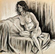 "Gary Adelman, ""Nude III"", 18.5x19.5, Pastel, Original, Hollywood"