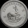 2019 South Africa Krugerrand Premium Bullion Silver 1 oz Coin