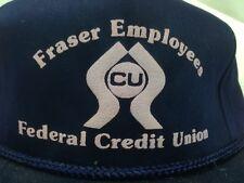 VTG Fraser Paper Employee Federal Credit Union Snapback Hat Cap Madawaska Maine