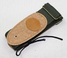 adjustable Guitar Strap soft belt leather+canvas guitar strap Army Green Color