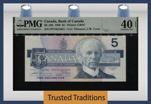 TT PK BC-56c 1986 CANADA BANK OF CANADA 5 DOLLARS PMG 40 EPQ EXTREMELY FINE!