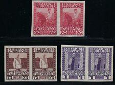 1908-16 Austria Scott 122-124 (Mi. 151U-153U) imperforate pairs NGAI/MNH
