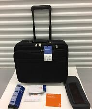 $379 BRIGGS & RILEY BR260-4 Black Nylon Rolling Office Laptop Case Life warranty