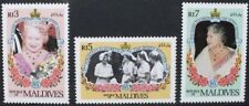 MALDIVES 1985 QE2 Queen Mother. Set of 3. Mint Never Hinged. SG1099/1101.