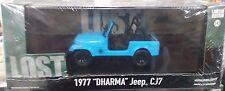 LOST TV Series 1977 DHARMA JEEP CJ7 Diecast Car 1:43 GreenLight 4.5 inch Blue