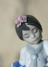 Lladro Porcelain Flamenco Girl in Blue Figurine - Collectible