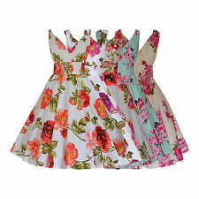 1940's 1950's Vintage Floral Cotton Full Flared Party Bridesmaid Dress New 8-20