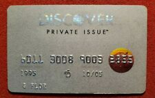 Private Issue by Discover credit card exp 2005♡free ship♡cc1168♡