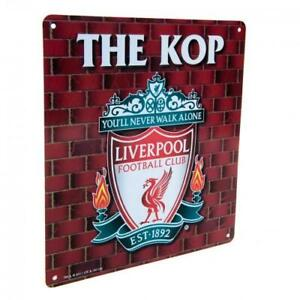LIVERPOOL FC THE KOP ICONIC METAL SIGN - OFFICIAL FOOTBALL GIFT