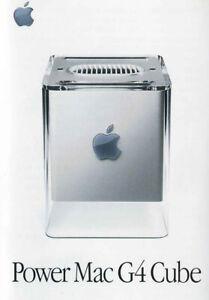 Apple Power Mac G4 Cube Mini Flyer Broschüre 7,7 x 11,5 cm Werbung
