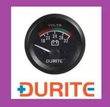 Durite 24V 52mm illuminato Marine Batteria Auto Classica VoltMetro - 0-523-72