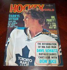 Hockey World Magazine November 1974 Darryl Sittler