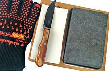 Hot Stone Cooking Lava Steak Black Rock Grill Set Unusual Gift for men
