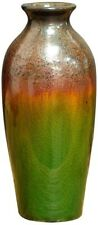"""7.7"""" High Green And Brown Ceramic Vase With Gradient Color"""