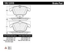 Disc Brake Pad Set-OE Formula Brake Pads with Hardware Front Centric 100.12410