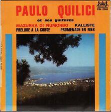 """PAULO QUILICI """"MAZURKA DI FIUMORBO"""" GUITARE CORSE 60'S EP CONSUL 2086 dédicacé !"""