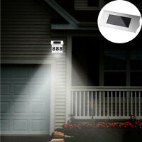 LED Waterproof Number Doorplate Solar Lamp Outdoor House Indicating Decor Lights
