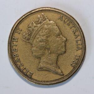 1985 Australian One Dollar double rim impression Black Ring Error Coin (CR/A21)