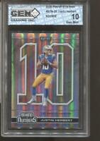 2020 Justin Herbert Playoff Behind the Numbers Holo #26 Gem Mint 10 RC Chargers