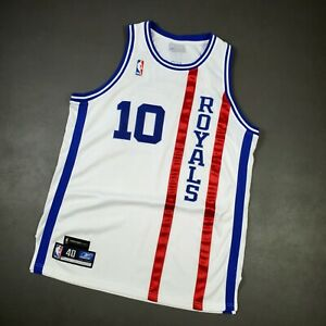 100% Authentic Mike Bibby Vintage Reebok Kings HWC Nights Jersey Size 40 M L