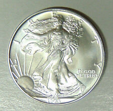 1993 American Silver Eagle Uncirculated .999 Fine Silver Dollar 1 oz (62317)