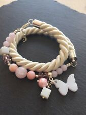 Rose Quartz Shell Crystals Bracelet Jewelry Gift Present Birthday