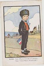 CARTE POSTALE FANTAISIE HANSI/ YERRI (d'après l'estampe et la poupée)N°49/GALLAY