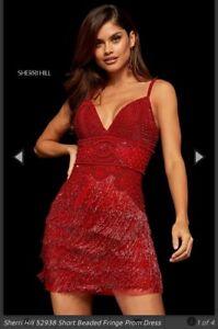 Sherri Hill Kleid 52938 rot