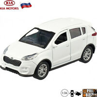 Diecast Compact SUV Scale 1:36 Kia Sportage White Russian Model Toy Cars