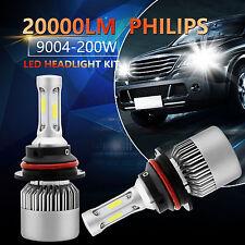 PHILIPS 200W 9004 HB1 LED Headlight 20000LM White Hi/Low Beam 6500K Bulbs Kit 2x