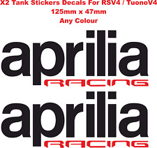 Aprilia Racing Tank Fairing Decals Stickers For Aprilia RSV4 / Tuono V4