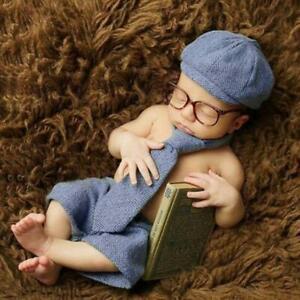 Newborn Photography Props Baby Boy Gentleman Set Costume Clothing Studio Shoots