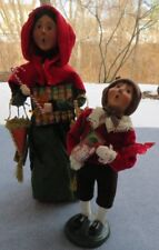 2 Pc Byers Choice Carolers Cries of London Woman Sweets Vendor & Boy w Candy