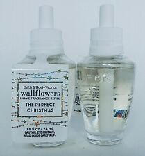 2 BATH & BODY WORKS WALLFLOWERS THE PERFECT CHRISTMAS HOME FRAGRANCE REFILL NEW!