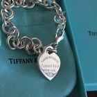 Tiffany&Co Return To Tiffany Heart Charm Bracelet Sterling Silver Medium 7.5''