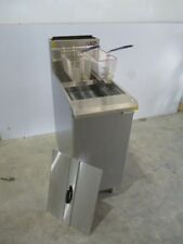 Commercial 4 Burner Gas Deep Fryer Standing New 12M Warranty 120MJ/h Chips Cafe