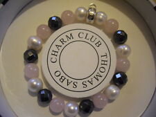 Thomas Sabo charm club perlas Pulsera Brazalete s x0188-581-7-s ts perlas nuevo box