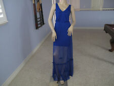 Bebe Blue Mesh Maxi Dress NWT$139~Small~Only One~