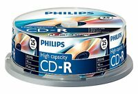 Philips CD-R 90MIN High Capacity 800MB - 25 Pack Spindle
