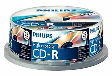 25x Philips de alta capacidad de CD-R 800MB 90MIN 52x Eje