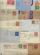 UK GB 1918 1950s COLLECT OF 11 COVERS ALL WITH PERFINS STAMPS INCLUDES OFFICIAL