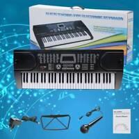 61 Tasten Keyboard E-Piano Lern Klavier 255 Sounds & Rhythmen MP3
