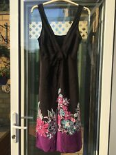 Beautiful Little Sundress Riviera 12 Black Pink Purple Sequins Knee Length