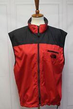 3502 The North Face Men L Vest Zipper Red Sleeveless Hiking Fishing Camping Run