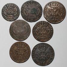 1723 1732 1734 1757 1764 1795 JOHN V JOSE I MARIA I PORTUGAL 5 10 20 REIS COINS
