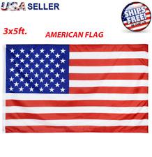 3' x 5' FT USA US U.S. AMERICAN Flag Polyester Stars Brass Grommet United States