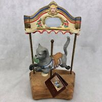 Willitts Designs Tobin Fraley Carousel Cat Vintage 1985 Music Box 3180/9500 LE