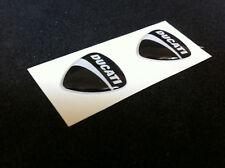 2 Adesivi Resinati Sticker 3D Ducati Corse  40 mm Nero